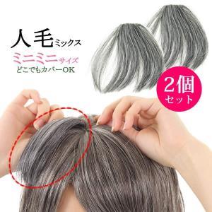 ウィッグ ヘアピース  人毛100% 円形脱毛症 部分ウィッグ かつら 送料無料 メッシュ しらが 白髪 白髪カバー kz1wt50|wigwigrunes