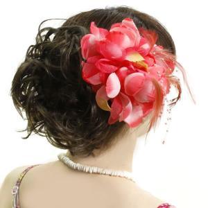 ウィッグ フラダンス フラ シュシュタイプ 部分ウィッグ エクステ ヘアアレンジ 簡単 まとめ髪 m4a|wigwigrunes