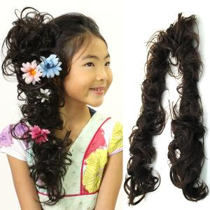 ウィッグ キッズ 七五三 ロープタイプ ロープ 部分ウィッグ 子供 子ども  かつら ウィッグ つけ毛 ステージ衣装 M-4A-1|wigwigrunes