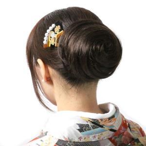 ウィッグ 和装 部分ウィッグ お団子 まとめ髪 夜会巻き風 ヘアアレンジ odango-c|wigwigrunes