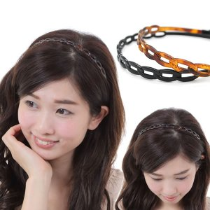 カチューシャ べっ甲 痛くならないカチューシャ 樹脂 人気 ヘアアレンジ PK-26|wigwigrunes
