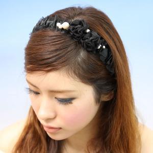 カチューシャ リボン 結婚式 ロマンチック バラ 日本製 ヘッドドレス rb6|wigwigrunes