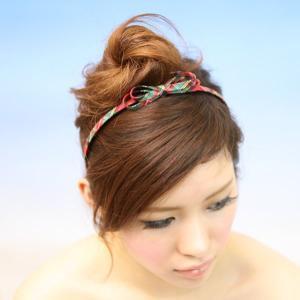 カチューシャ リボン 結婚式 チェック柄 ssr101|wigwigrunes