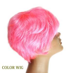 ウィッグ カラーウィッグ カラー ピンク ショート フルウィッグ 送料無料 ミセス tm5color|wigwigrunes