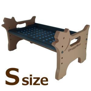 食器台 犬 洗える 外せる ドッグダイニング Sドギーマン 食事台 樹脂製|wil-mart