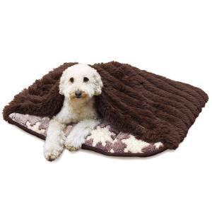 寝ぶくろ保温クッション(M) クリスタル 犬・猫用あったかベッド 秋冬 ペット用寝袋 ドギーマン|wil-mart