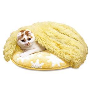 猫ぶくろ保温クッション 丸 クリスタル 猫用あったかベッド 秋冬 寝袋クッション キャティーマン|wil-mart