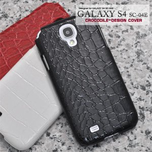 GALAXY  S4(ギャラクシー S4) SC-04E用 クロコダイルレザーデザインケース wil-mart