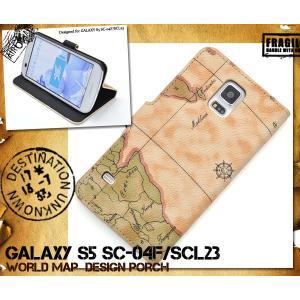 GALAXY S5(ギャラクシーS5) SC-04F/SCL23用 ワールドデザインケースポーチ|wil-mart