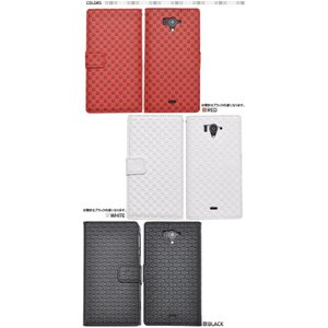 AQUOS PHONE(アクオスフォン) ZETA SH-04F用 市松模様デザインスタンドケースポーチ|wil-mart
