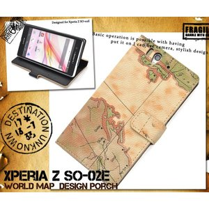 Xperia Z(エクスペリアZ) SO-02E用ワールドデザインケースポーチ|wil-mart