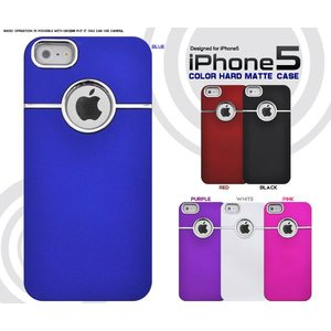 iPhone5/5S/5SE(アイフォン5/5S/5SE)用 カラーハードマットケース|wil-mart