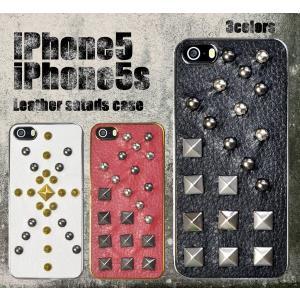iPhone5/5S/5SE(アイフォン5/5S/5SE)用レザースタッズケース|wil-mart