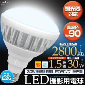 30W撮影照明用LEDランプ フラッド(散光型) 2800lm E26口金 300Wクラス|wil-mart