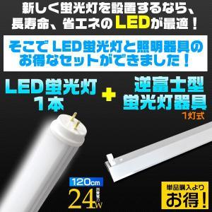 LED蛍光灯1本+1灯逆富士型蛍光灯器具|wil-mart
