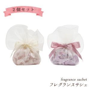 ココン フレグランスサシェ 2個セット  アンジェリックローズ / ヴィオラ&リリーの香り|wil-mart