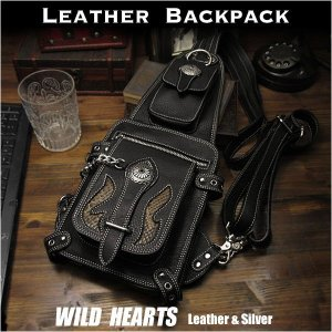 ボディバッグ ワンショルダーバッグ リュック 2WAY レザー/本革/レザー (ID bb1605t31)|wild-hearts