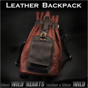 ボディバッグ 巾着型リュック/バッグ ショルダーバッグ ホースレザー/馬革 (ID bb2788b10)|wild-hearts
