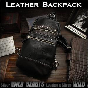 ボディバッグ バックパック ワンショルダーバッグ  革/レザー 斜めがけバッグ  (ID bb2964t8)|wild-hearts