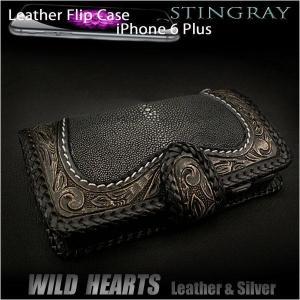 スティングレイ iPhone6 Plus/6s Plus 手帳型レザーケース アイフォン6プラス/6sプラス  ケース エイ革/牛革 (ID ip2857r50)|wild-hearts