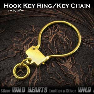 キーホルダー キーフック 真鍮 (ID kh3467k5)|wild-hearts