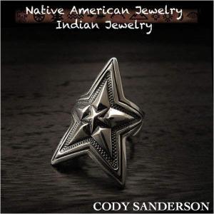 新品 コディ サンダーソン/Cody Sanderson リング 25号 インディアンジュエリー シルバー925 ナバホ族 ユニセックス (ID na3179r73)|wild-hearts