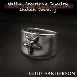 新品 コディ サンダーソン/Cody Sanderson リング 23号 インディアンジュエリー シルバー925 ナバホ族 ユニセックス (ID na3181r73)|wild-hearts