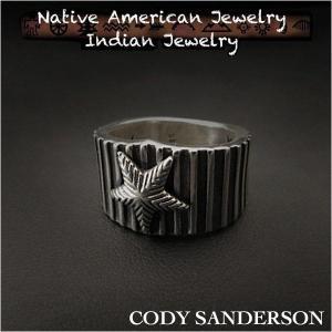 新品 コディ サンダーソン/Cody Sanderson リング 16号  インディアンジュエリー シルバー925 ナバホ族 ユニセックス (ID na3183r73)|wild-hearts