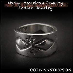 新品 コディ サンダーソン/Cody Sanderson リング 14号 インディアンジュエリー シルバー925 ナバホ族 ユニセックス (ID na3184r73)|wild-hearts