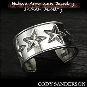新品 コディ サンダーソン/Cody Sanderson 6スター バングル/ブレスレット インディアンジュエリー シルバー925 ナバホ族 ユニセックス (ID na3186r73)|wild-hearts