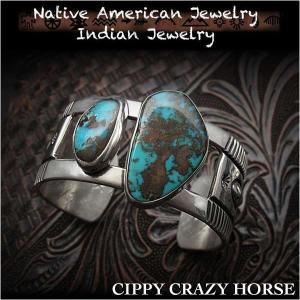 新品 シッピー・クレイジー・ホース/Cippy Crazy Horse バングル ブレスレット アパッチブルー ターコイズ インディアンジュエリー シルバー925 (ID na3189r73)|wild-hearts