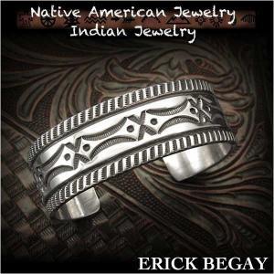 新品 エリックビゲィ/Erick Begay バングル ブレスレット インディアンジュエリー シルバー925 ナバホ族 ユニセックス (ID na3193r73)|wild-hearts