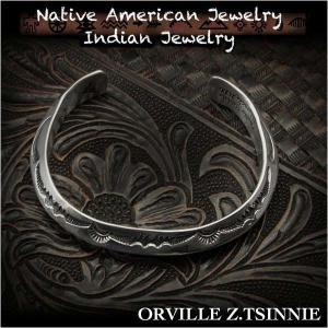 新品 オーヴィル・ツィニー/Orville Z.Tsinnie バングル ブレスレット インディアンジュエリー シルバー925 ナバホ族 ユニセックス (ID na3197r73)|wild-hearts