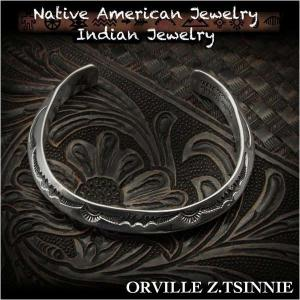新品 オーヴィル・ツィニー/Orville Z.Tsinnie バングル ブレスレット インディアンジュエリー シルバー925 ナバホ族 ユニセックス (ID na3198r73)|wild-hearts