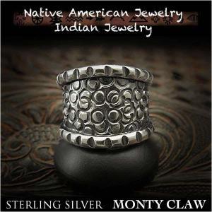 新品 モンティ・クロー/Monty Claw リング 23号 インディアンジュエリー シルバー925 ナバホ族 ユニセックス (ID na3204r73)|wild-hearts