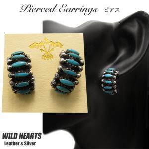 インディアンジュエリー ピアス シルバー925 ターコイズ シルバーアクセサリー イヤリング(ID pe2267)|wild-hearts
