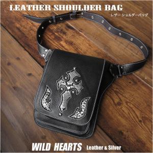 レザー ショルダーバッグ メンズ メッセンジャーバッグ ウエストバッグ 2WAY 本革/牛革 (ID sb1244r60) |wild-hearts