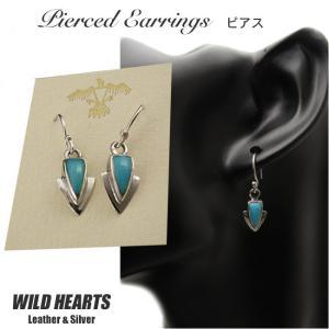 ピアス シルバー925 ターコイズ シルバーアクセサリー イヤリング インディアンジュエリー (ID se2472)|wild-hearts