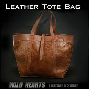 レザートートバッグ/ショルダーバッグ/レザー/革/花柄/レディース/Genuine Leather Cowhide Tote bag shoulder bag/Oversize/Large size|wild-hearts