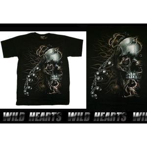 Tシャツ スカル ドクロ コットン100% Sサイズ Mサイズ Lサイズ (ts0838r18)