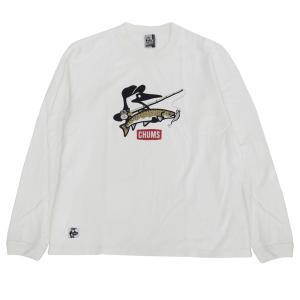 【ジョインター×チャムス】 フィッシング ロングスリーブTシャツ 【ホワイト XLサイズ】 wild1