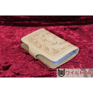 本革製カードケース wild