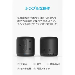 Anker SoundCore mini (コンパクト Bluetoothスピーカー) 15時間連続...