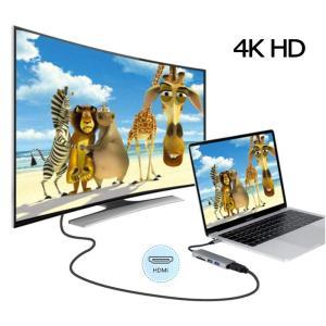 USB Type C ハブ Type C to HDMI 変換アダプタ USB3.0 ハブ SD/M...