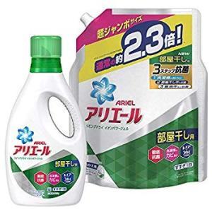 まとめ買い アリエール 洗濯洗剤 液体 リビングドライ イオンパワージェル 本体 910g+詰め替え...