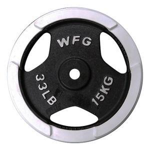 プレート 15kg(白ラバー)/ WILD FIT (ワイルドフィット)