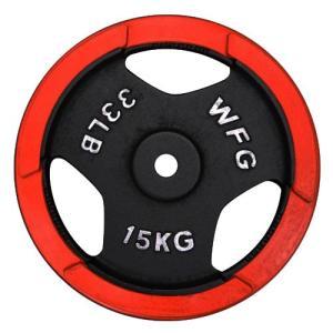 プレート 15kg(赤ラバー)/ WILD FIT (ワイルドフィット)