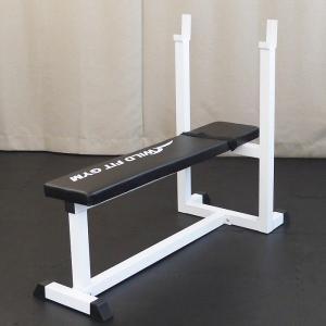 トレーニングジムセット 白ラバー70kg / 筋トレ ベンチプレス ダンベル バーベル トレーニング器具 トレーニングマシン|wildfit|02