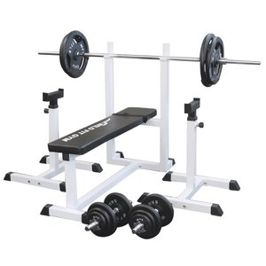 トレーニングジムセット アイアン100kg / 筋トレ ベンチプレス ダンベル バーベル トレーニング器具 トレーニングマシン