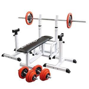 フォールディングジムセット 赤ラバー70kg / 筋トレ 器具 ベンチプレス トレーニング器具 バーベル ダンベル 腹筋 ワイルドフィット|wildfit